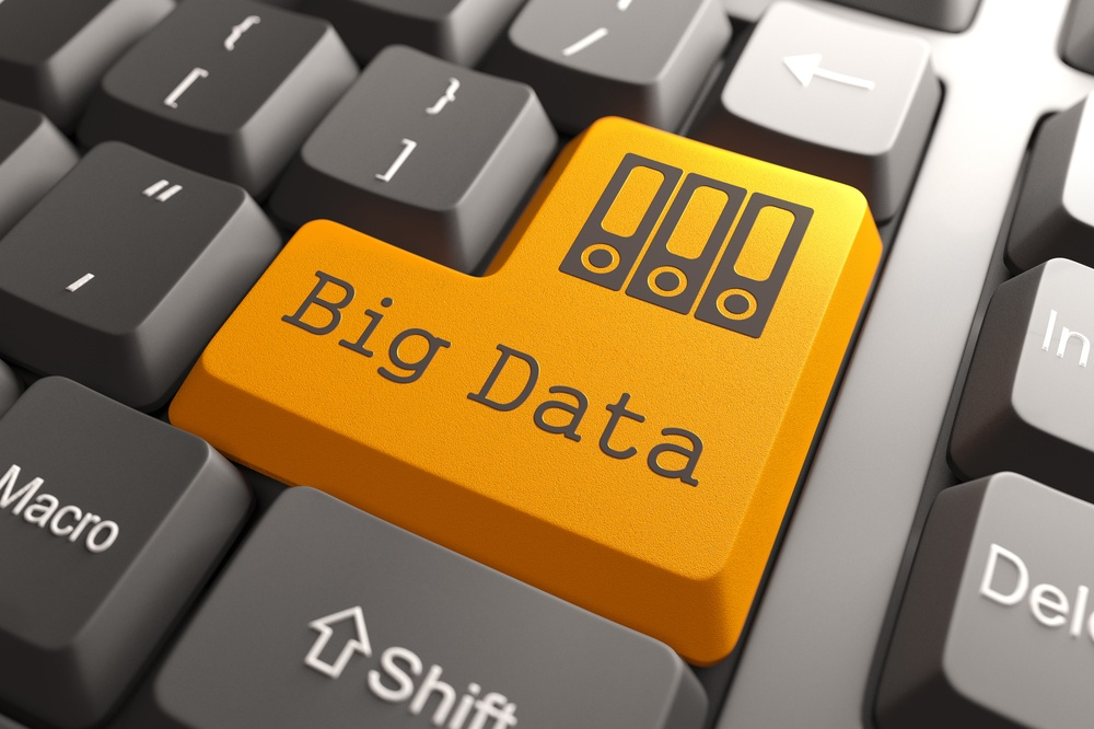 Orange Big Data Button on Computer Keyboard. Information Concept..jpeg