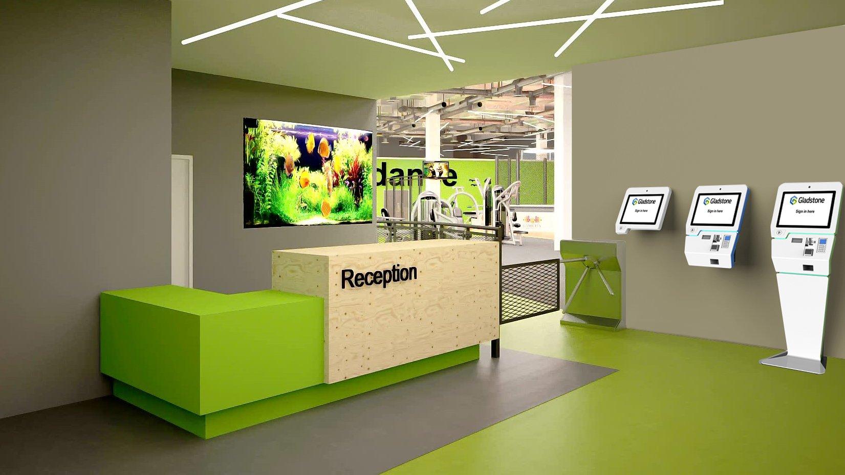 Kiosk v2 - reception render all 3