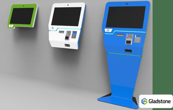 Kiosk v2 with G logo bottom right